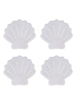 18 confetti de table coquilles blanches