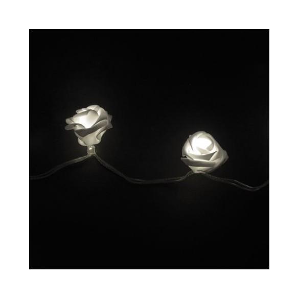 Guirlande 15 leds roses blanc 1m50