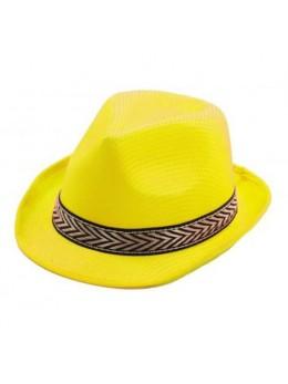 Chapeau Tony polyester jaune