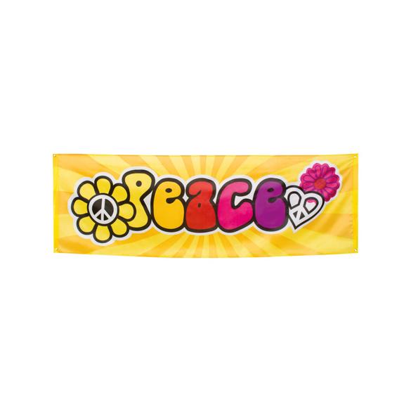 Bannière tissu Peace