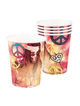 6 gobelets hippie