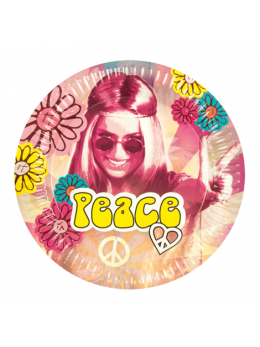 6 Assiettes hippie 25cm
