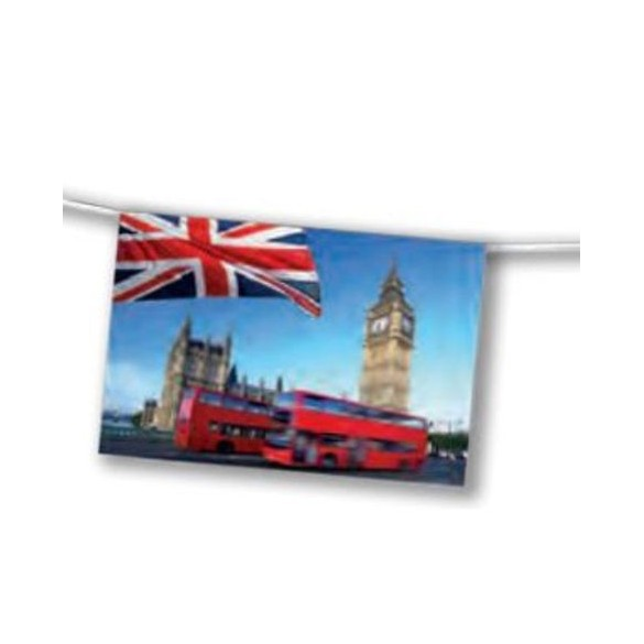 Guirlande Londres bus