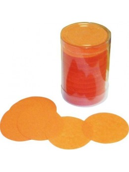 Confetti de scène rond orange
