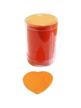 Confetti de scène coeurs orange