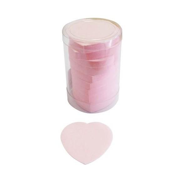 Confetti de scène coeurs rose
