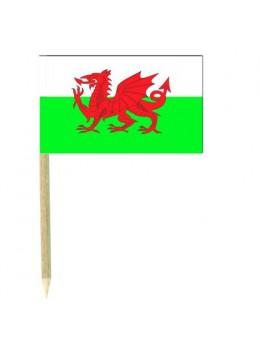 50 Mini drapeaux luxe Pays de Galles