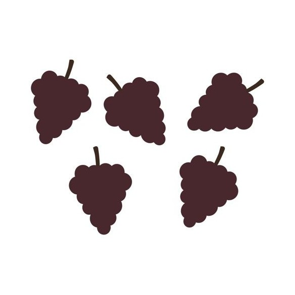 100 Confetti grappes de raisins bordeaux