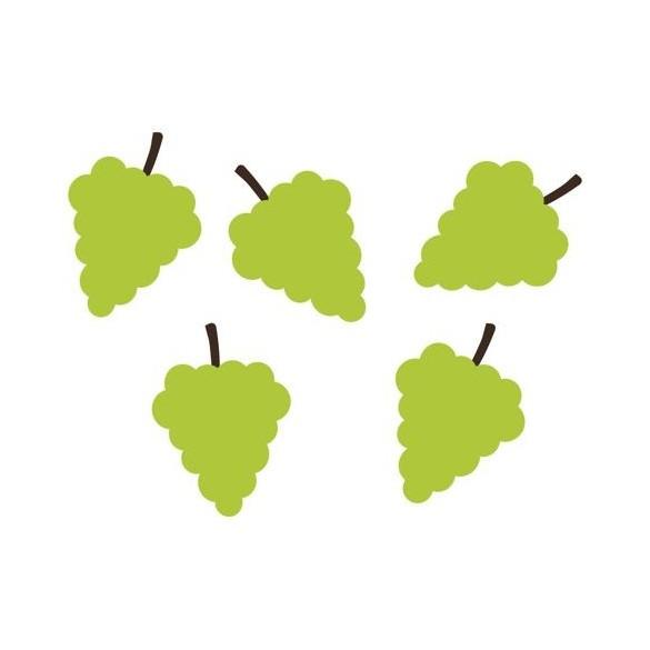 100 Confetti grappes de raisins vert