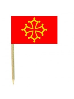 50 Mini drapeaux luxe Languedoc