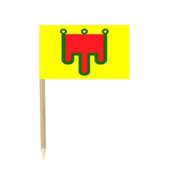 50 Mini drapeaux luxe Auvergne