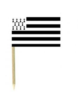 50 Mini drapeaux luxe Bretagne