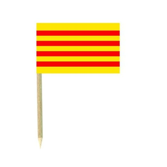 50 Mini drapeaux luxe Catalan