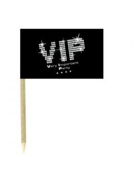 10 Mini drapeaux luxe VIP