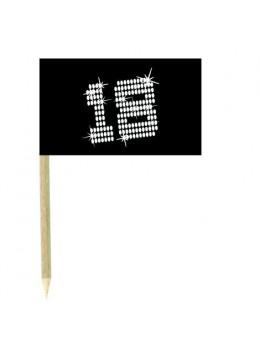 10 Mini drapeaux luxe VIP 18 ans