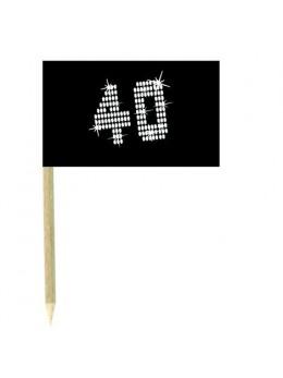 10 Mini drapeaux luxe VIP 40 ans