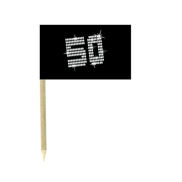 10 Mini drapeaux luxe VIP 50 ans