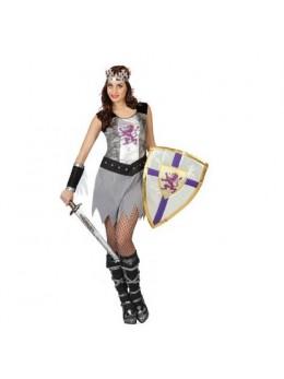 Déguisement guerrière médiévale grise