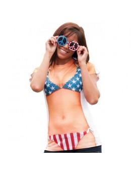 Déguisement tshirt miss america