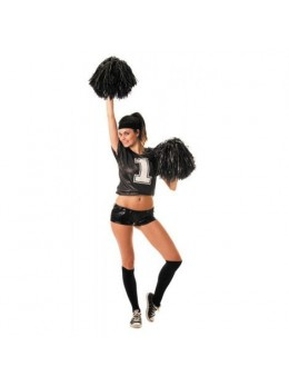 Déguisement Tshirt pompom girl noir