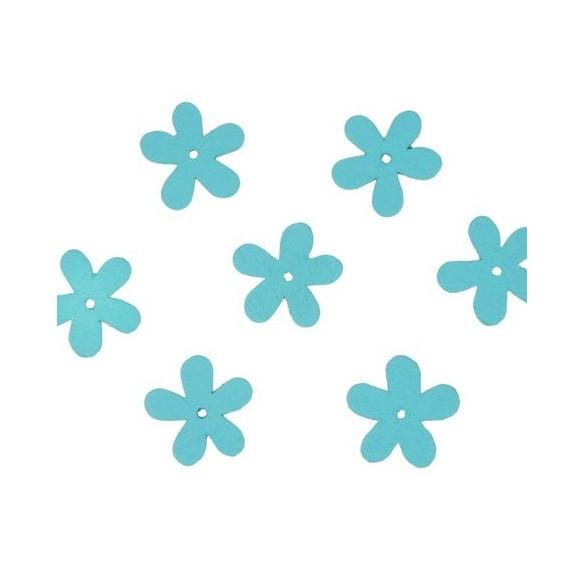 Confetti Flower bois turquoise