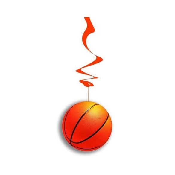 6 Suspensions ballons de basket