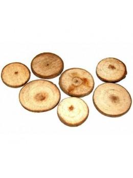 Déco 12 rondelles de bois