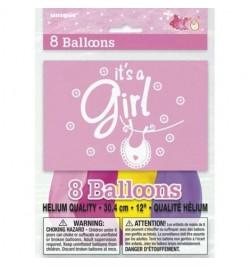"""8 ballons """"c'est une fille"""""""