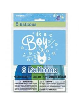 "8 ballons ""c'est un garçon"""