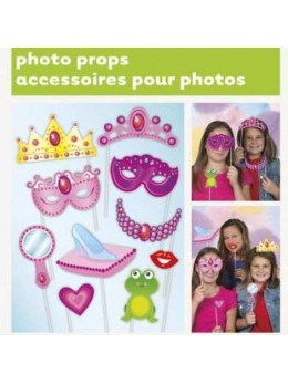 Kit photobooth 10 accessoires princesse