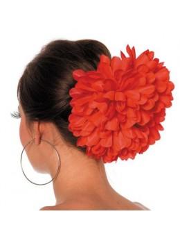 Barrette fleur rouge