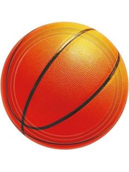 8 Assiettes à désert basketball