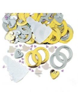 Confetti thème mariage
