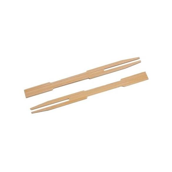 50 fourchettes à frites en bambou