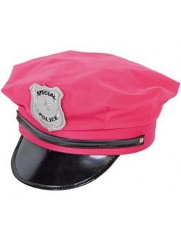 Casquette de policière rose