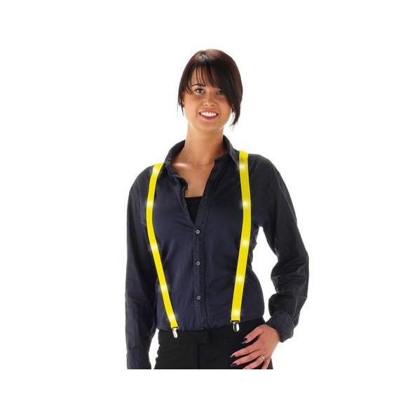Bretelles Led jaune fluo