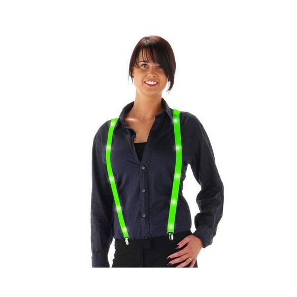 Bretelles led vert fluo
