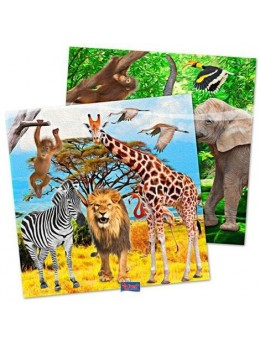 20 Serviettes motif safari