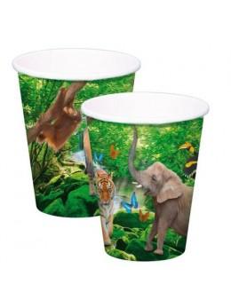 8 Gobelets carton Safari