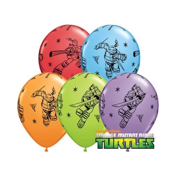 10 Ballons luxe tortue ninja