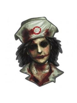 Déco cutout infirmière d'asile zombie