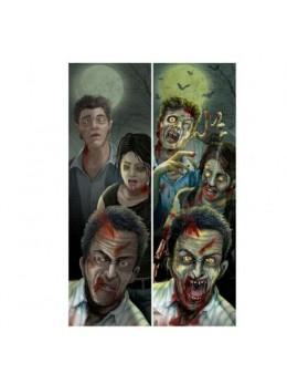 Déco oriflamme famille zombie