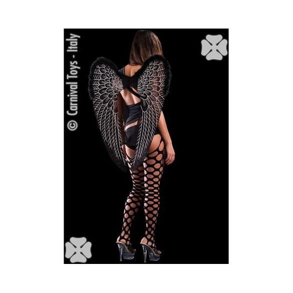 Ailes d'ange noires et marabout