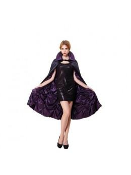 Cape vénitienne reversible violet noir