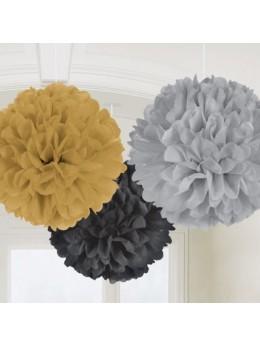3 Fleurs de soie 40cm Hollywood