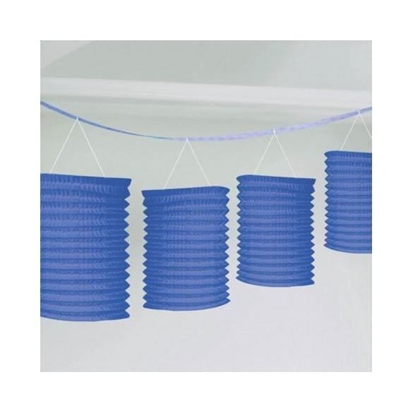 guirlande de lampions bleu pas cher d coration f te champ tre guinguette. Black Bedroom Furniture Sets. Home Design Ideas