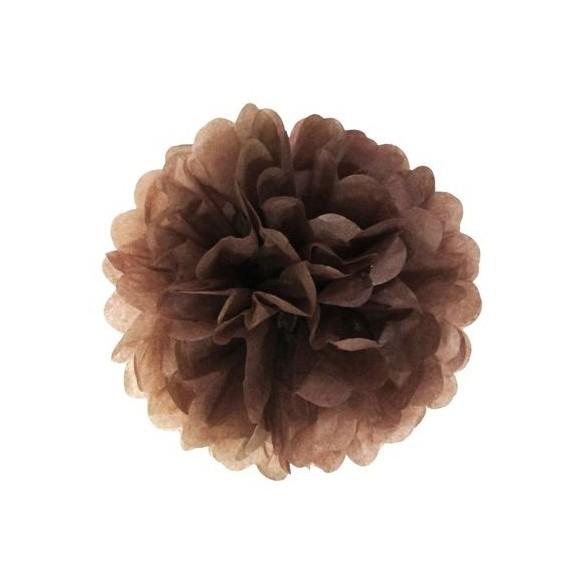 Assortiment 3 tailles fleurs papier de soie chocolat
