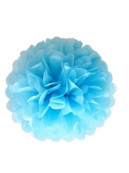 Assortiment 3 tailles fleurs papier de soie ciel