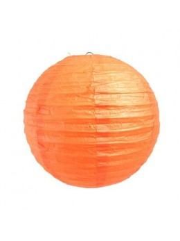 Lampion ballon orange 25cm