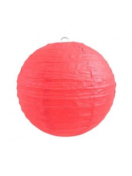 Lampion ballon rouge 25cm